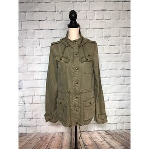 Max Jeans Green Military  Anorak Jacket Sz S